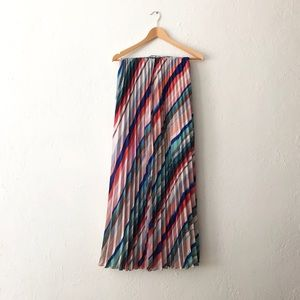 H&M - rainbow striped maxi skirt